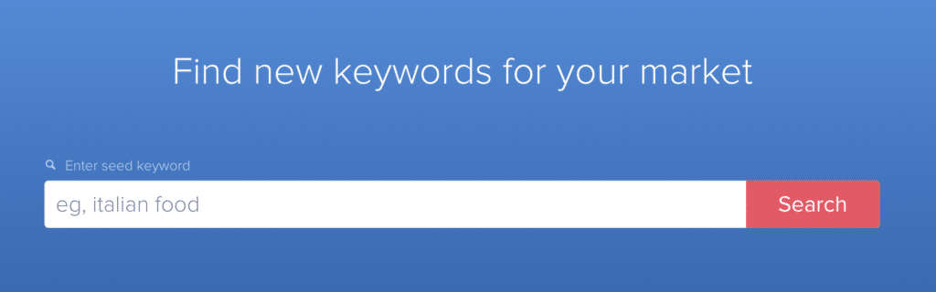 Find new keywords for your market