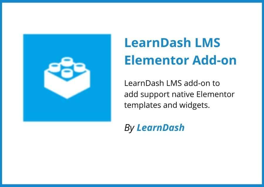 LearnDash LMS Elementor Add-on