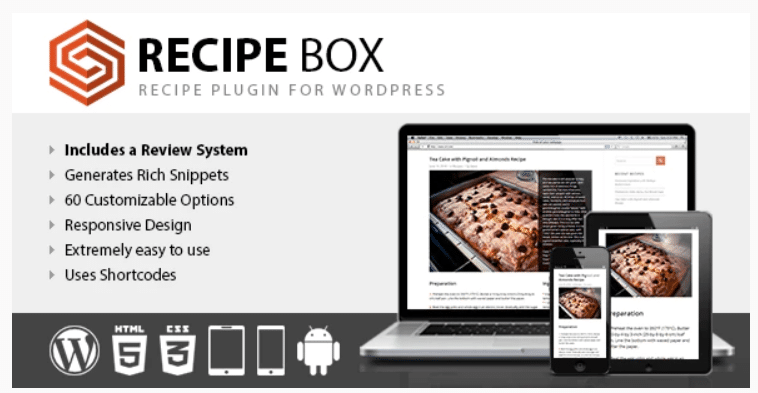 recipe box plugin