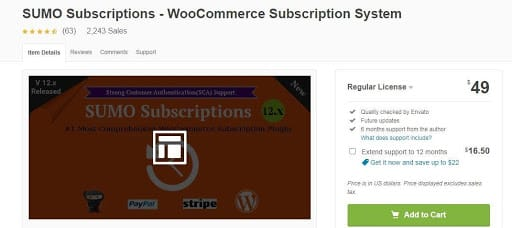sumo suscription woocommerce